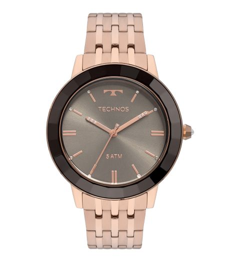 Relógio Technos Feminino Crystal Analógico - 2035MFI 5A - Camisaria ... 8ad6f5b2f6