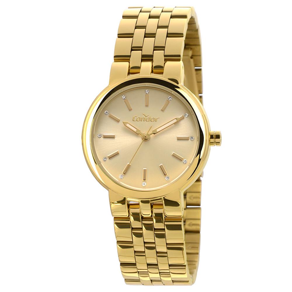 ddf481514fd Relógio Condor Bracelete Feminino Dourado COAL2035LV K4D - Camisaria ...