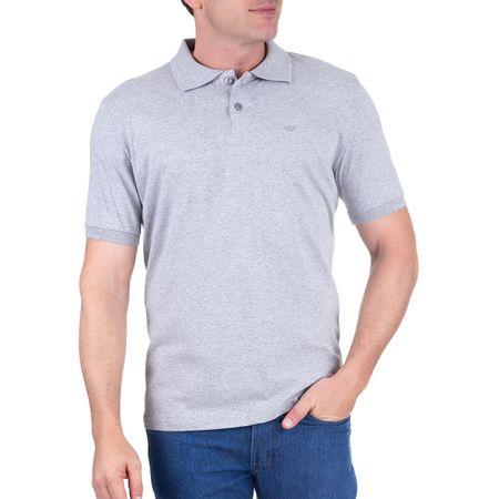 Camisa Polo Masculina Cinza Lisa