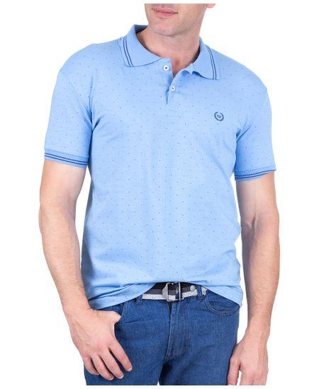 Polo-Estampada-Malha-Com-Elastano-Azul-Italiano