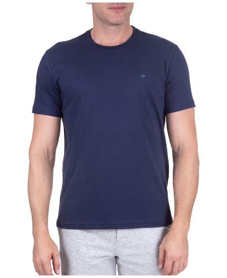 T-Shirt--Gola-Careca-Azul-Noite