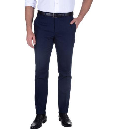 19caecfd3 Calça Social Masculina Azul Marinho Lisa