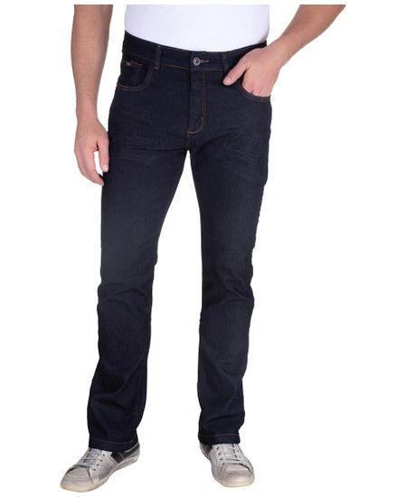 Calca-Jeans-Com-Lavagem-E-Puido-Elastano-Azul-Noite