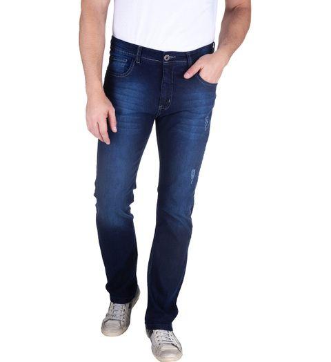 Calca-Jeans-Com-Lavagem-E-Puido-Elastano-Azul-Marinho