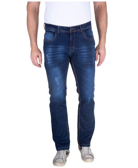 Calca-Jeans-Com-Lavagem-E-Puido-Elastano-Azul-Indigo