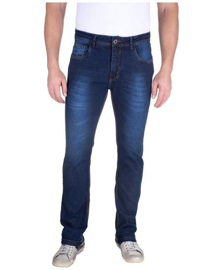 Calca-Jeans-Com-Lavagem-E-Puido-Elastano-Azul