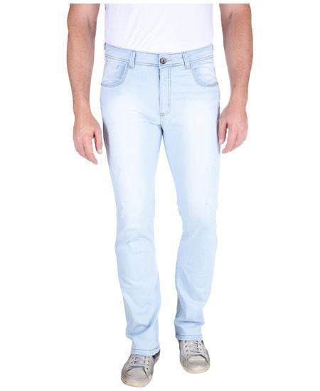 Calca-Jeans-Com-Lavagem-E-Puido-Elastano-Azul-Claro