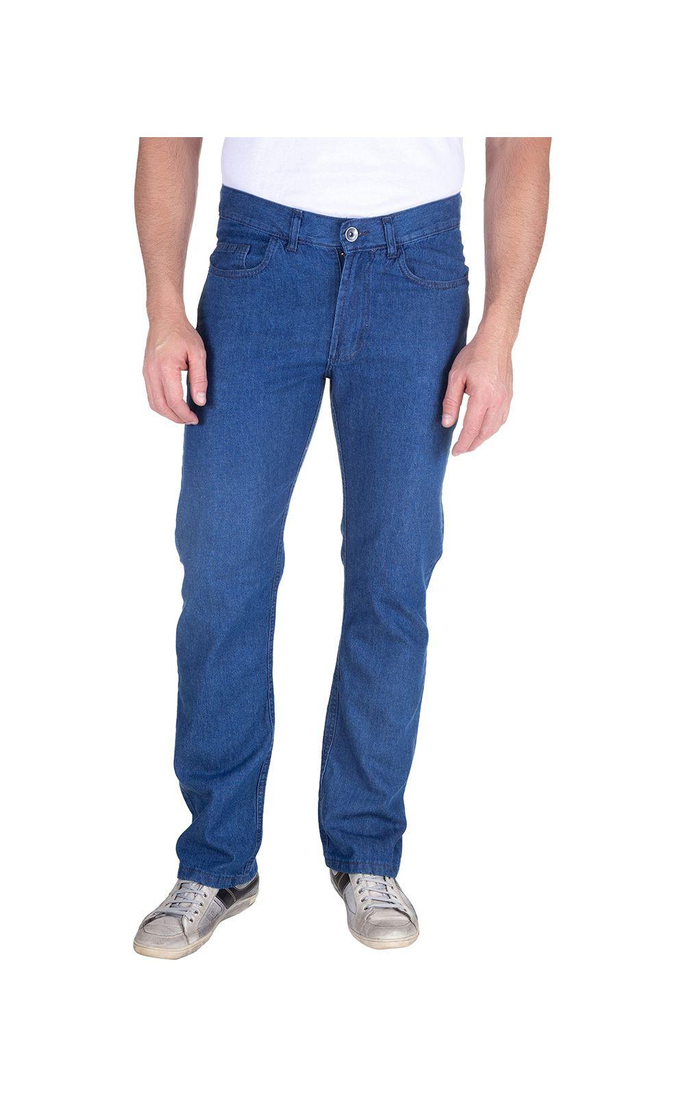 Foto 1 - Calça Jeans Masculina Azul Claro Lisa
