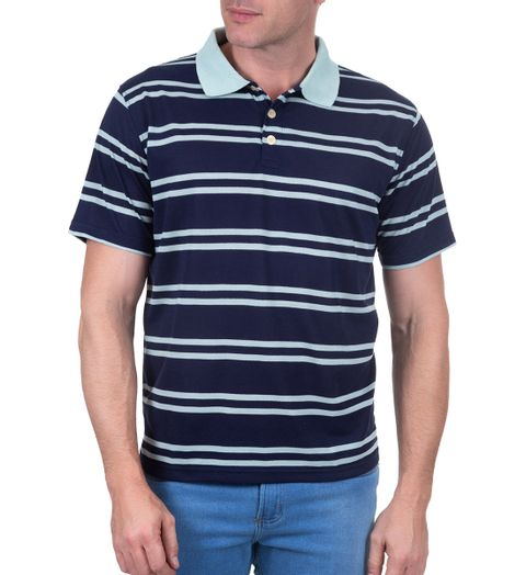 Camisa Polo Azul Listrado 67b9dfe7d38b7