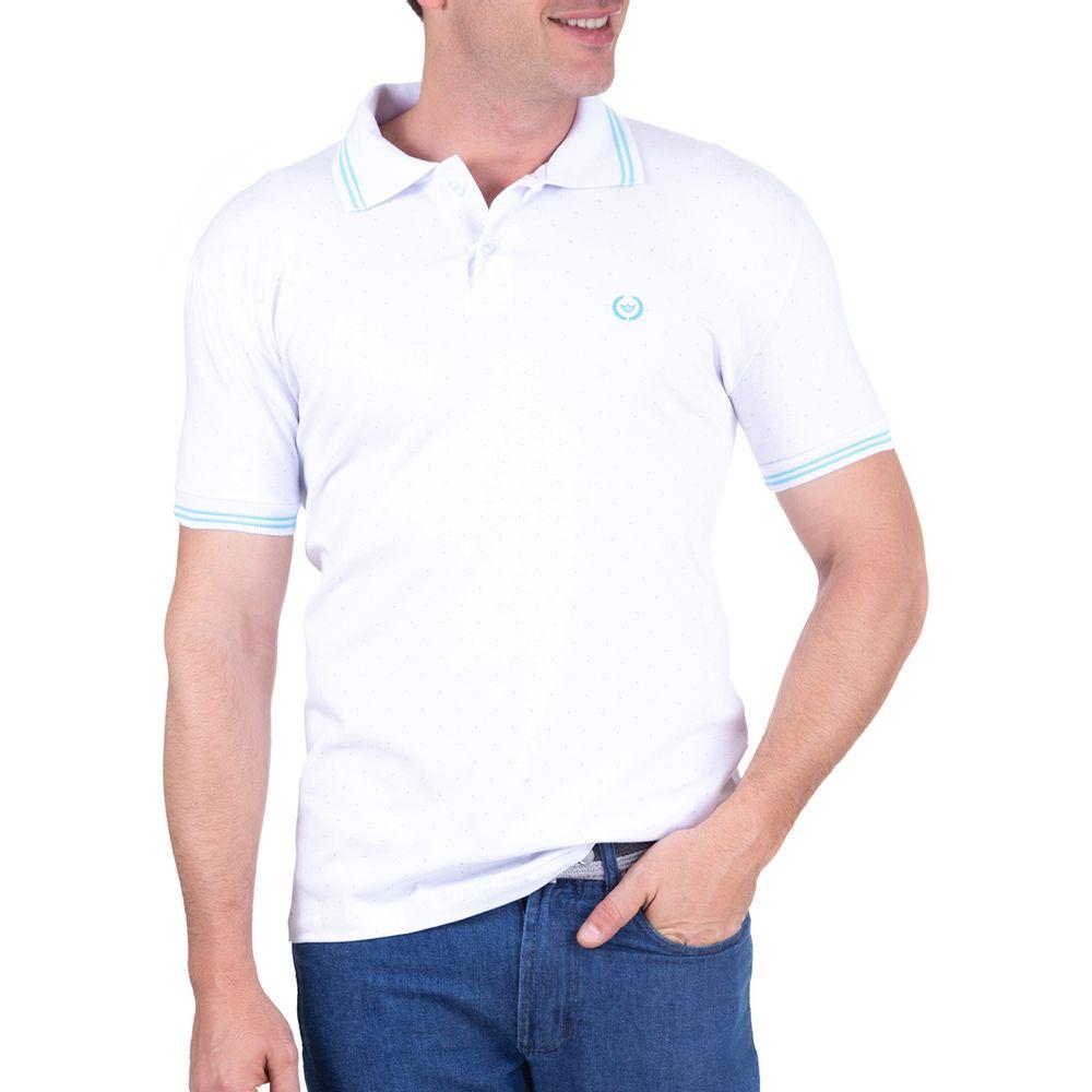 da6e02022 PRODUTO ADICIONADO A SACOLA. Camisa Polo Masculina Branca Lisa
