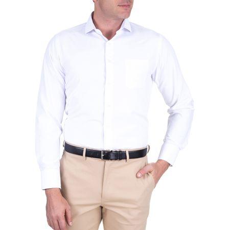 Camisa Social Masculina Branca Lisa