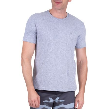 Camiseta Masculina Cinza Lisa