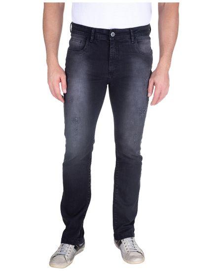 Calca-Jeans-Com-Lavagem-E-Puido-Elastano-Preto