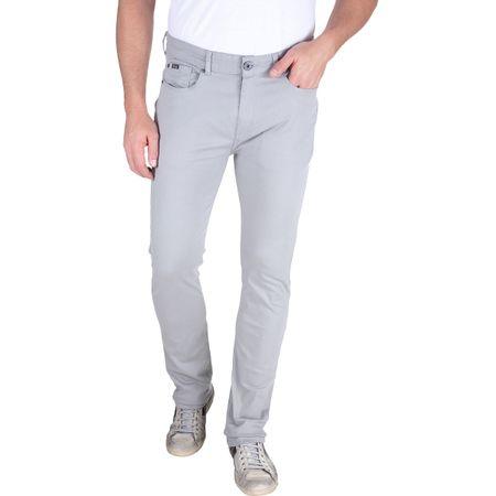 Calça Jeans Masculina Cinza Lisa