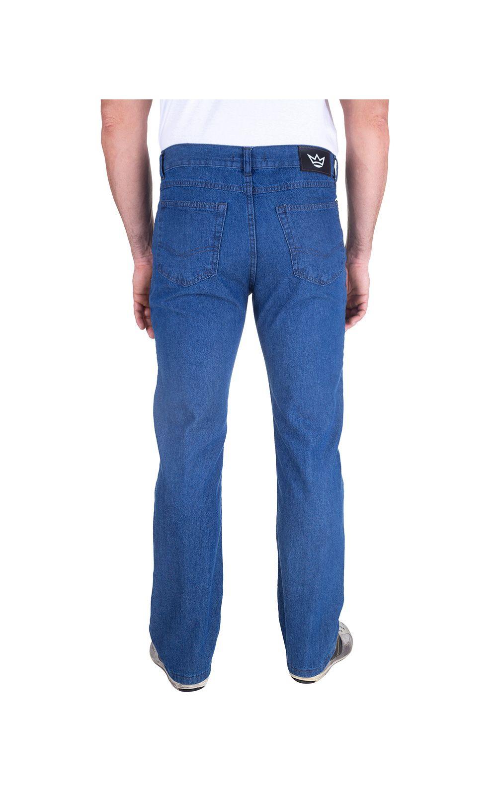 Foto 2 - Calça Jeans Masculina Azul Claro Lisa
