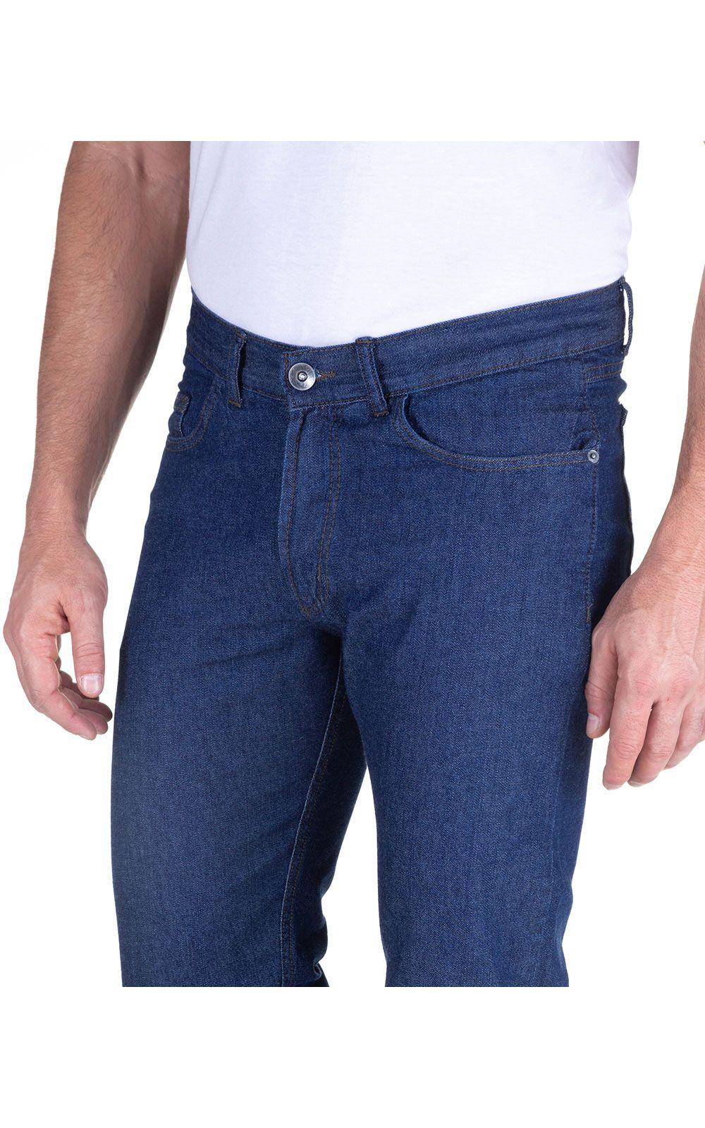 Foto 3 - Calça Jeans Masculina Azul Marinho Lisa