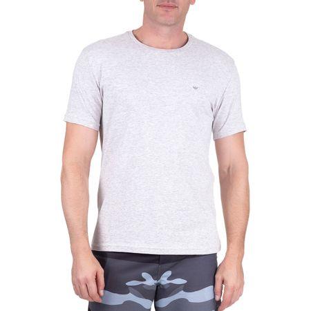Camiseta Masculina Cinza Claro Lisa