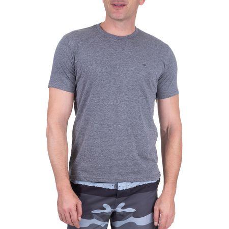Camiseta Masculina Cinza Escuro Lisa