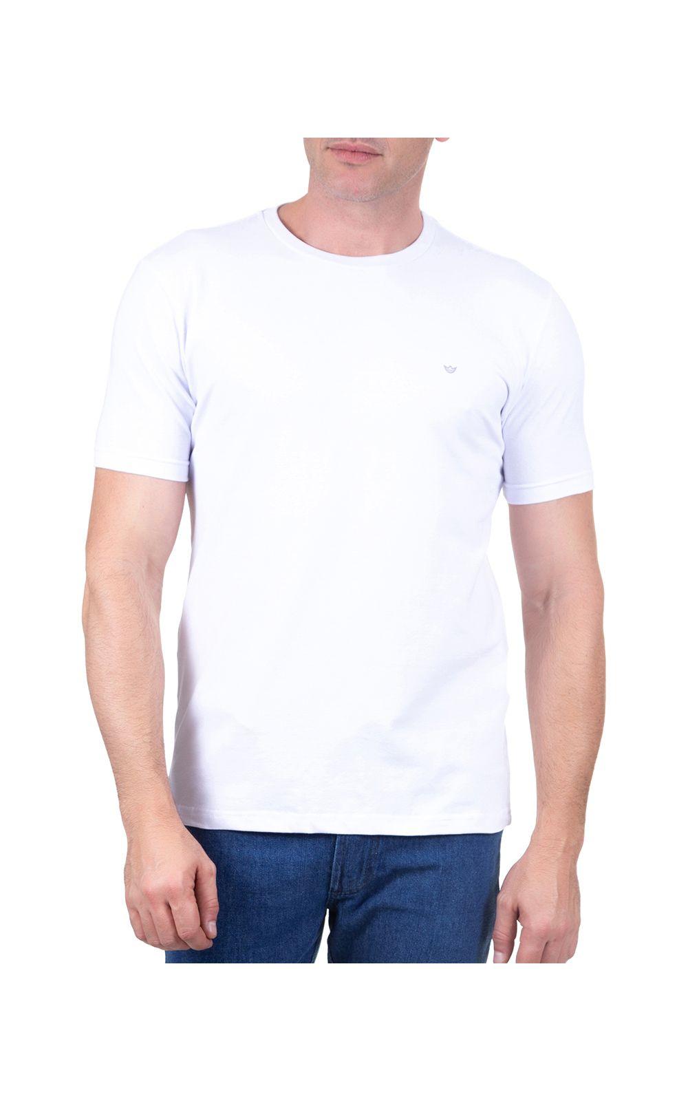 Foto 1 - Camiseta Masculina Branca Lisa