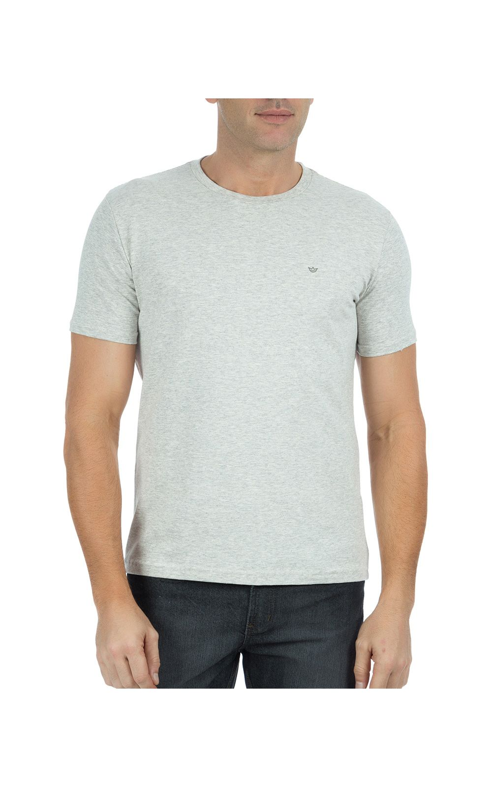 Foto 1 - Camiseta Masculina Cinza Claro