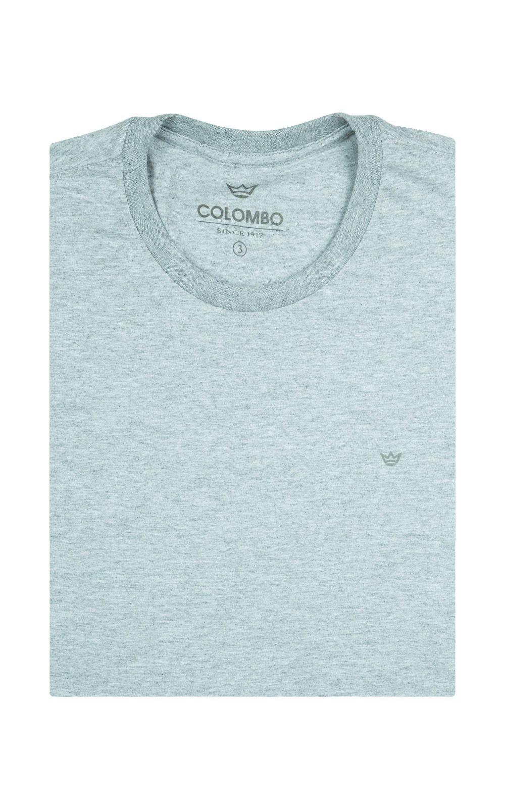 Foto 4 - Camiseta Masculina Cinza Claro