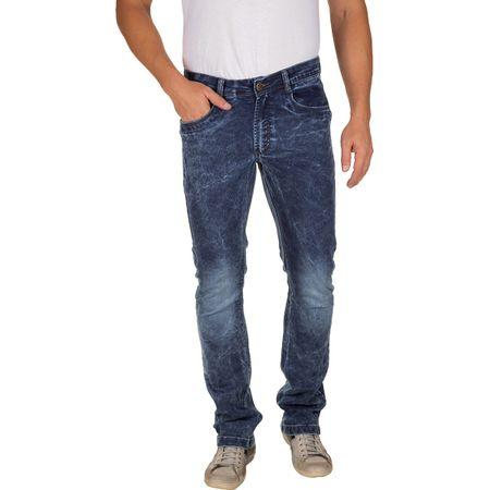 Calça Jeans Masculina Azul Escuro Texturizada