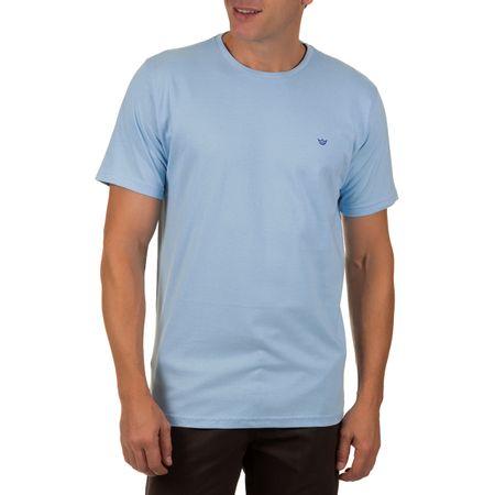 Camiseta Masculina Azul Claro Lisa