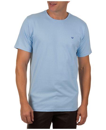 Camiseta-Masculina-Azul-Claro-Lisa