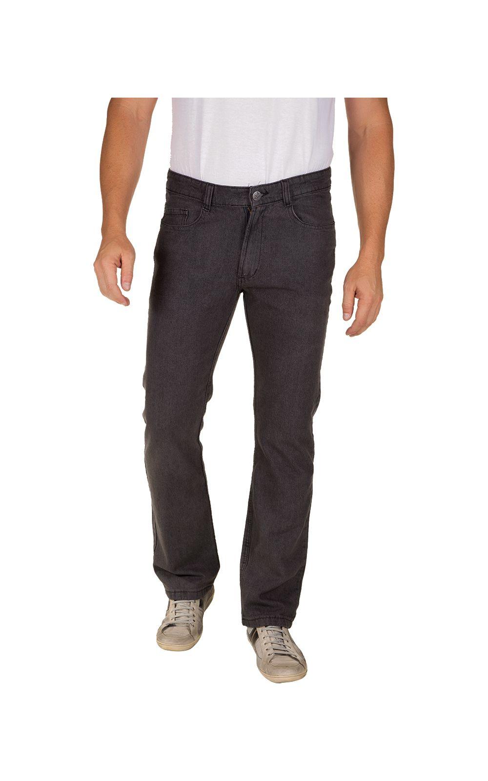 Foto 1 - Calça Jeans Masculina Preta Lisa