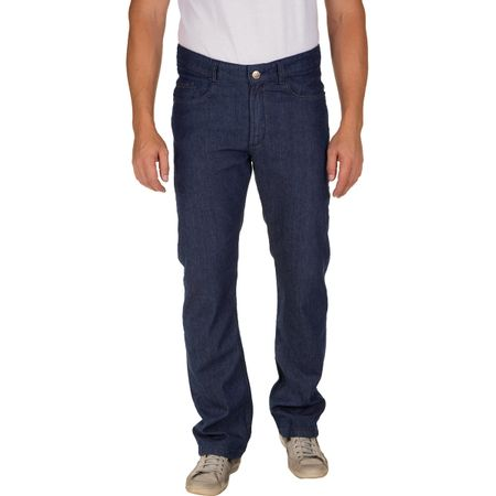Calça Jeans Masculina Azul Escuro Lisa