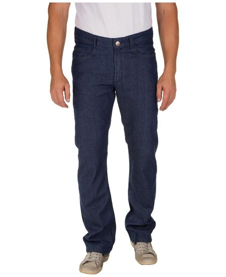 Calca-Jeans-Masculina-Azul-Escuro-Lisa