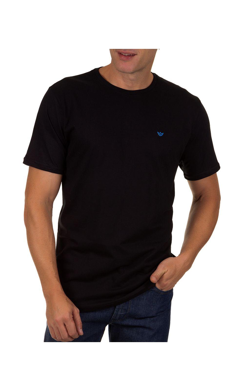 Foto 1 - Camiseta Masculina Preto Lisa