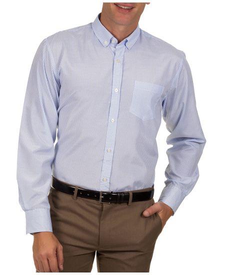 Camisa-Social-Masculina-Azul-Claro-Listrada