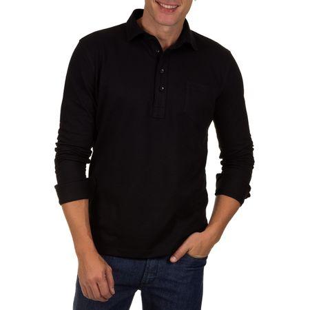 Camisa Polo Masculina Preto Lisa