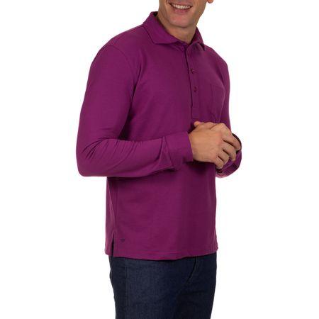 Camisa Polo Masculina Roxo Lisa