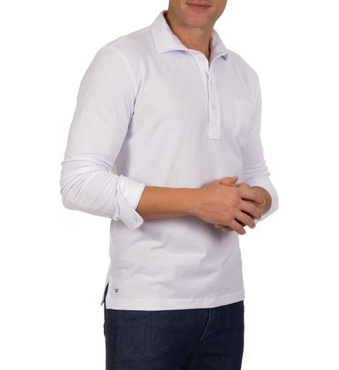 Camisa-Polo-Masculina-Branca-Lisa