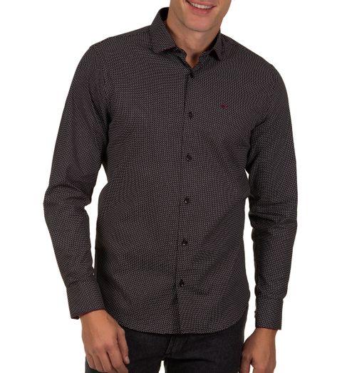 Camisa-Social-Masculina-Preto-Detalhada