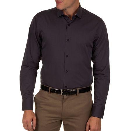 Camisa Social Masculina Preto Lisa