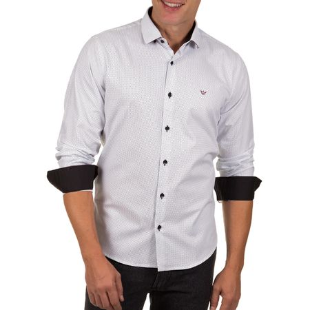 Camisa Social Masculina Branca Detalhada