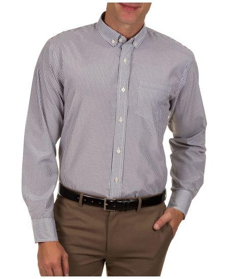 Camisa-Social-Masculina-Preta-Listrada