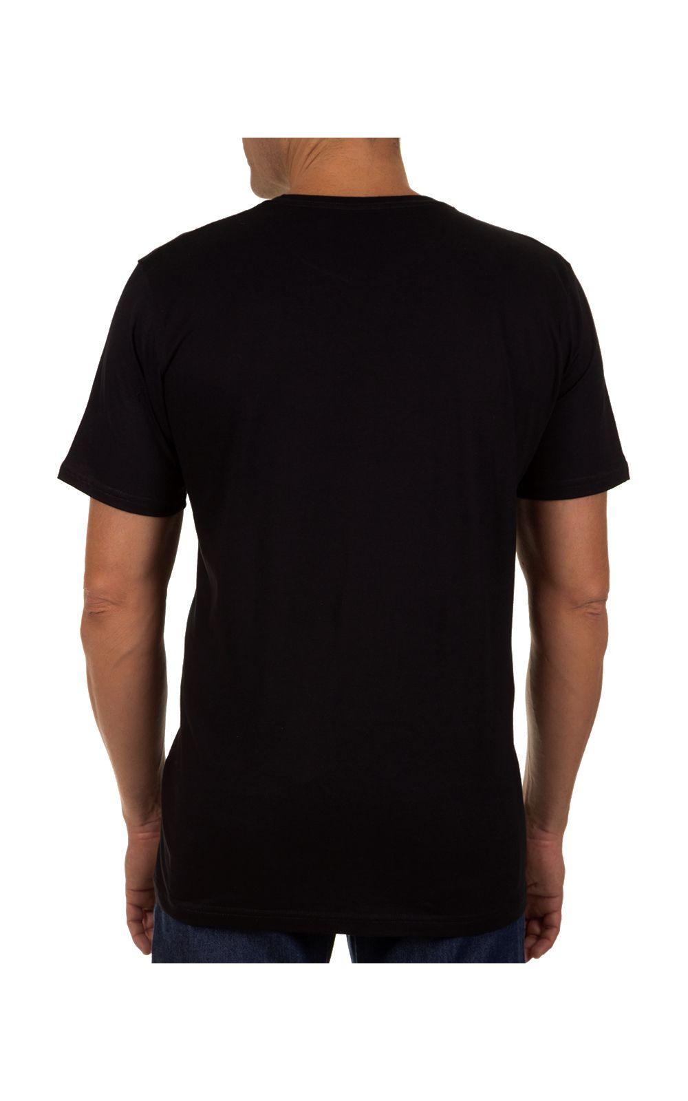 Foto 2 - Camiseta Masculina Preto Lisa