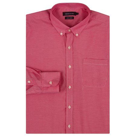 Camisa Social Masculina Vermelha Listrada