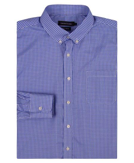 Camisa-Social-Masculina-Azul-Xadrez