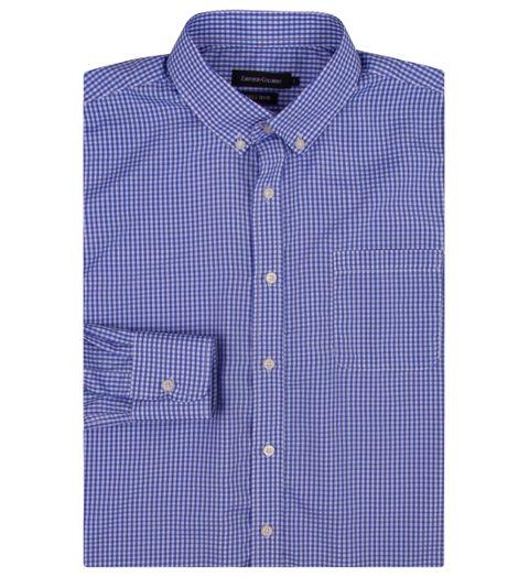 21f50311e0 Camisa Social Masculina Azul Xadrez