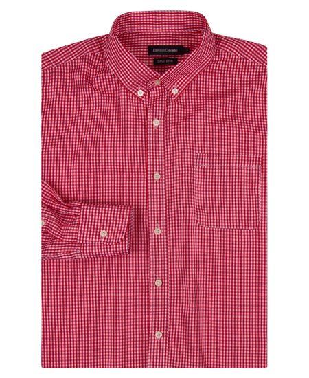 Camisa-Social-Masculina-Vermelho-Xadrez