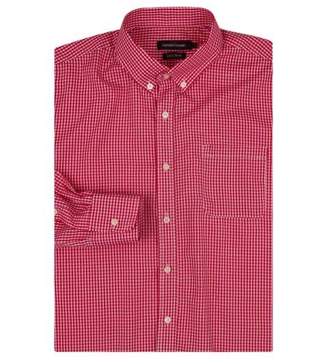 1dd8c5ec87 Camisa Social Masculina Vermelho Xadrez