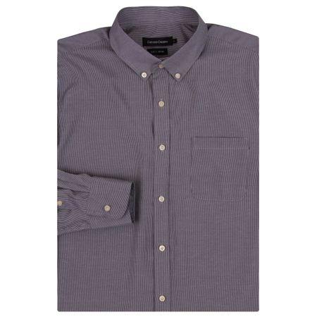 Camisa Social Masculina Preto Listrada
