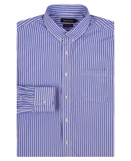 Camisa-Social-Masculina-Azul-Listrada