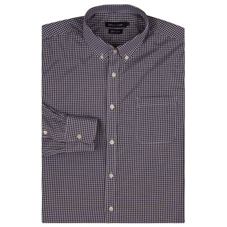 Camisa Social Masculina Preto Xadrez