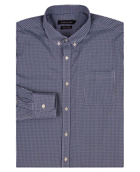 Camisa-Social-Masculina-Azul-Marinho-Xadrez